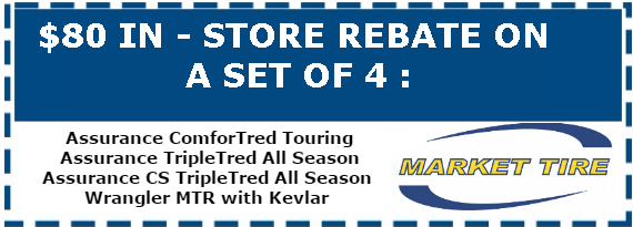 $80 In-Store Rebate on a Set of 4 in Saskatoon SK